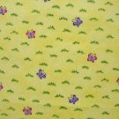 FQ SSI Kidstuff Once Upon A Time Again Butterflies on Yellow Fabric Fat Quarter