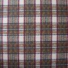 FQ RJR Vineyard Brown Red Black Gold Tan Plaid Cotton Fabric Fat Quarter