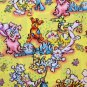 FQ Pack Doggity Woggles & Catnipz Pink & Yellow Cotton Fabric Fat Quarters