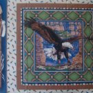 FQ Sacred Wings Eagle Pillow Quilt Block Cotton Fabric Fat Quarter