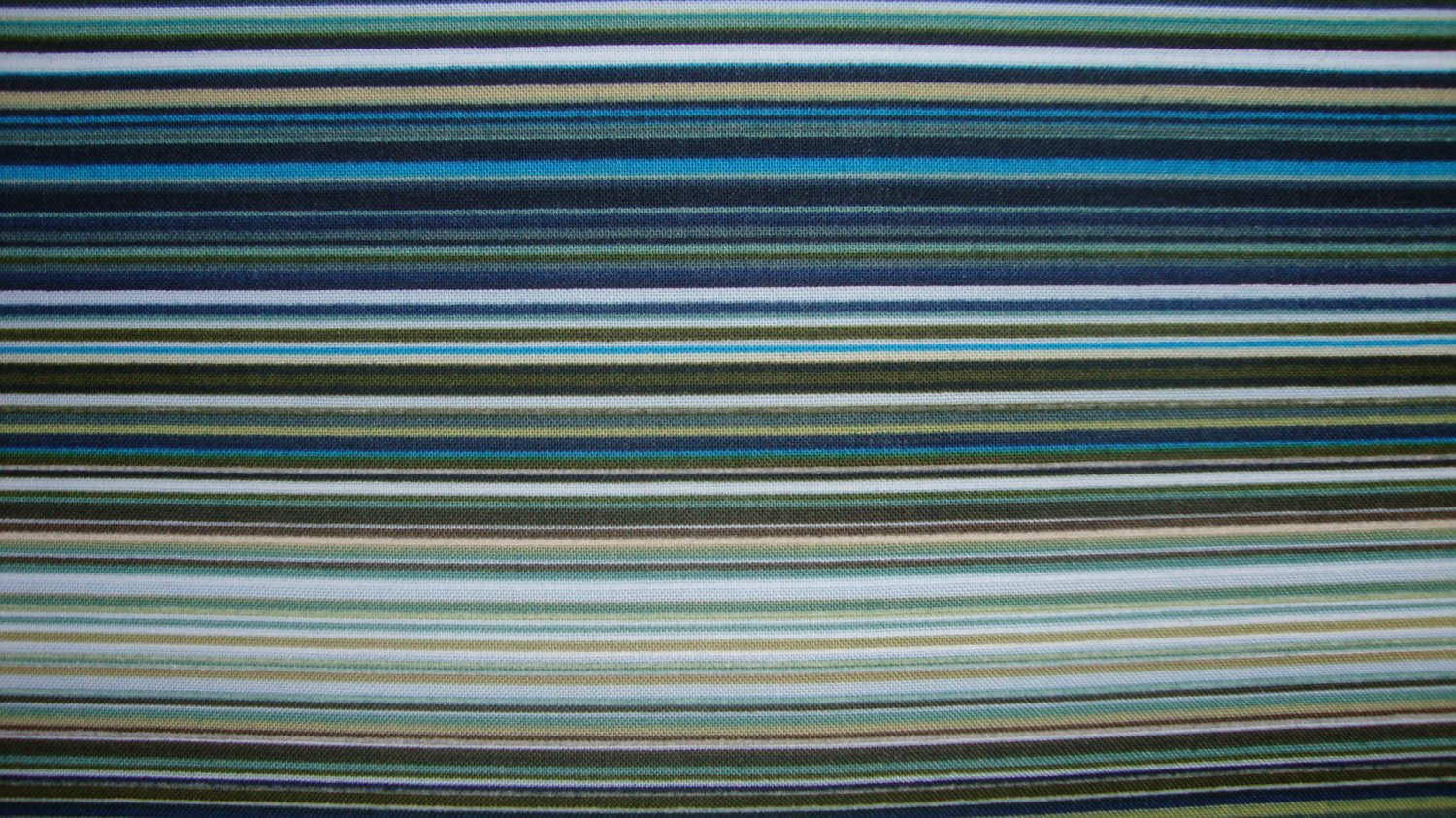 FQ Green Blue Brown Black White Stripe Fleur-C3792 Timeless Treasures Fabric Fat Quarter