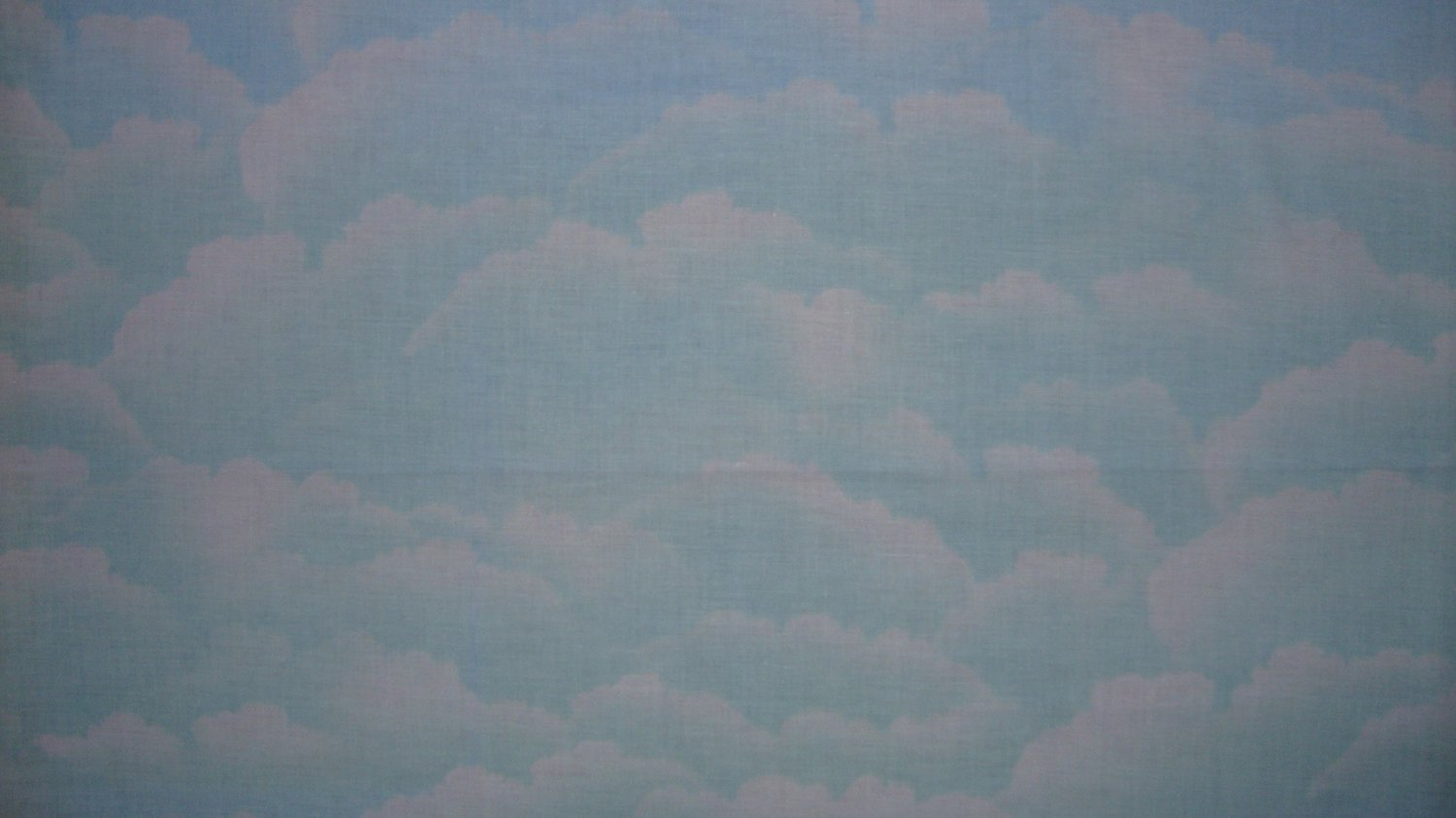 FQ Cotton Candy Blue Green Sky Clouds Fabric Fat Quarter