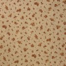 5/8 Yard Brown Flower Calico on Cream Cranston Print Works VIP Fabric Bolt End
