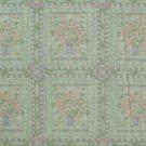"""1 metre 4"""" Daisy Flower Bouquet Blocks on Green Fabric Bolt End"""