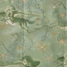 F8 Pegasus Gold Stars Green Toile Horses Mystical Fabric Visions Cotton Fat Eighth F8th
