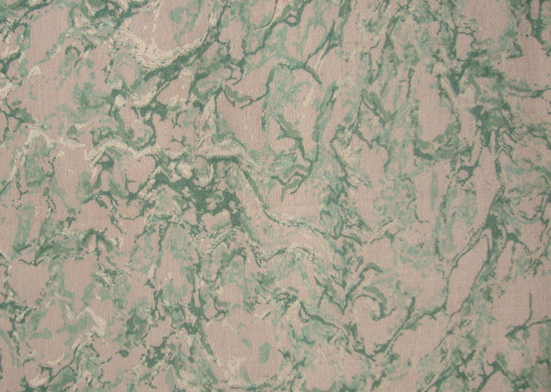 FQ Green & White Marble Cotton Fabric Fat Quarter
