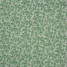 "1/2 Yard Green Flower Calico on White 36"" Wide Fabric Bolt End"