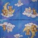 BTY Bears Sheep Dogs Mice Bunnies & Squirrels on Clouds Moon Baby Crib Bumper Border Fabric