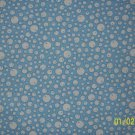 3/4 Yard RJR Everything But the Kitchen Sink Bubbles on Blue 1930s Repro Quilt Fabric Bolt End