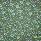BTY RJR Everything But the Kitchen Sink Daisies Calico Flowers on Green 30s Fabric By the Yard