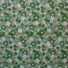 1 3/8+ Yard RJR Everything But the Kitchen Sink Green Clovers 30s Fabric Bolt End