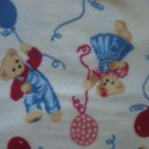 "Blue Jean Teddy Ballon Ride 60"" Polyester Fleece Kids Fabric Bolt End by Daisy Kingdom"