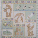 Moda Sweet Lullaby Green Baby Quilt Top or Wall Hanging Fabric Panel
