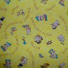 BTY Key to the Future Yellow Famous Baby and Toy Toss Cartoon Kids Fabric by Print Concepts