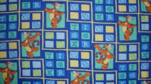 FQ Disney Winnie the Pooh Tigger Toss Cotton Snuggle Flannel Fabric Fat Quarter