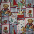 Blue Jean Teddy Picture Patch Allover Daisy Kingdom Kids Fabric 1+ Yard Bolt End