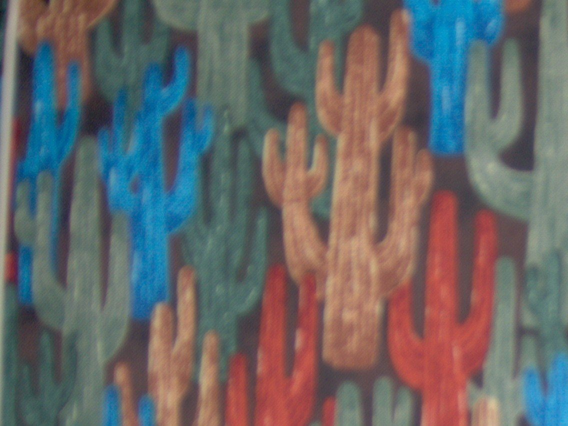 FQ Bears West Packed Cactus Blue Allover Southwest Desert Cotton Fabric Fat Quarter