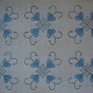 RJR Needlework Sampler Blue Heart Flowers Cotton Quilt Fabric BTY