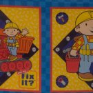 1/2 Yard Bob the Builder Blocks for Quilt or Pillows Fabric Panel