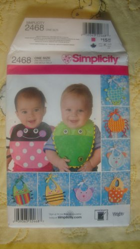 Simplicity Crafts Bugs and Animals Baby Bibs Precious Pattern 2468