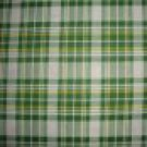 Daisy Kingdom Green Yellow Plaid Cotton Flannel Fabric Fat Quarter FQ