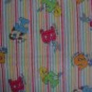 FQ Warner Bros Baby Looney Tunes Character Toss on Stripes Kids Cotton Fabric Fat Quarter