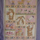 Pink Baby Girl Quilt Kit w/ Backing Fabric using Pink & Purple Moda Sweet Lullaby Fabrics