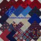"Antiqued Red White Blue 4"" x 4"" Square Fabric 24 Charms Quilt Kit Blocks"