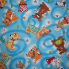 Timeless Treasures Dog Toss on Blue 2+ Yard Cotton Quilt Fabric Remnant