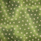 2 Yards Timeless Treasures Daisy Toss on Green Tonal Cotton Quilt Fabric Remnant