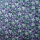 3+ Yards Concord The Kesslers Purple Grapes Green Leaves on Black Cotton Quilt Fabric Remnant