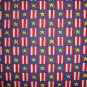1 1/2+ Yard Red White Blue and Gold Stars and Stripes Patchwork Cotton Fabric LAST PIECE