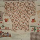 Pumpkin Patch Harvest Moon Fall Halloween Vest Cotton Fabric Panel