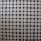 FQ American Spirit II Brown and Cream Gingham Peter Pan Cotton Fabric Fat Quarter