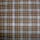 FQ Peter Pan Brown & Tan Plaid Cotton Quilting Fabric Fat Quarter