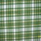 F8 JOHN DEERE TRACTORS Green Yellow White Plaid FABRIC FAT EIGHTH F8th