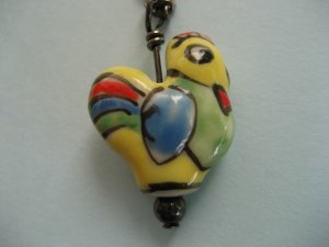 SALE-A Yellow Country Rooster Necklace