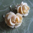 Vintage Rose Dangle Earrings
