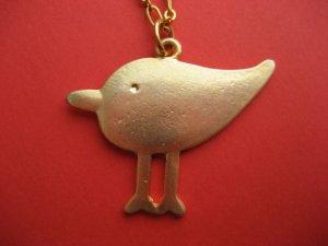 Modern Sandpiper Dream Bird Necklace