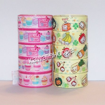 Deco Tape Lot - 5 Mamegoma & 5 Baby Boo