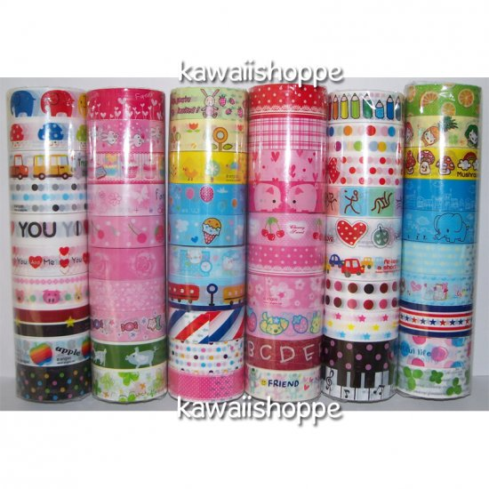 Wholesale Deco Tape 60 Rolls Nyanko Mamegoma Baby Boo Cupcakes  Ice Cream Kawaii Animals
