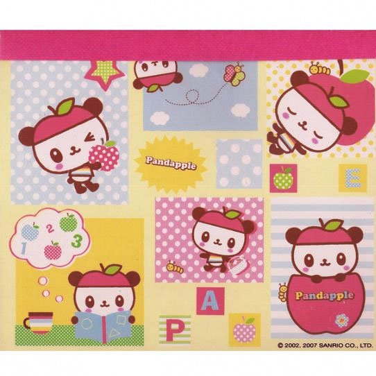 Pandapple Memo Pad #2 - with Stickers Sanrio Kawaii