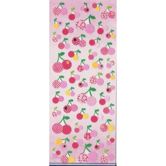 Q-lia Sticker Sheet #SE011 - Pink & Red Cherries Kawaii Stickers