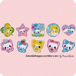 Kamio Japan *Twinkle Friends* - 10 Loose Flakes