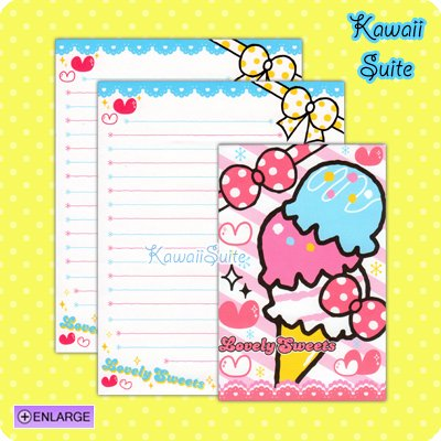 Lovely Sweets Letter Set D *Ice Cream* by Kamio Japan Kawaii