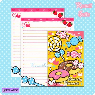 Lovely Sweets Letter Set B *Donuts, Lollipops, & Candies* by Kamio Japan Kawaii