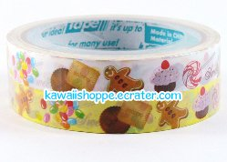 Prime *Sweets Variety* 2 Rolls of Deco Tape - Kawaii Gingerbread Cookies Desserts Cupcakes Chocolate