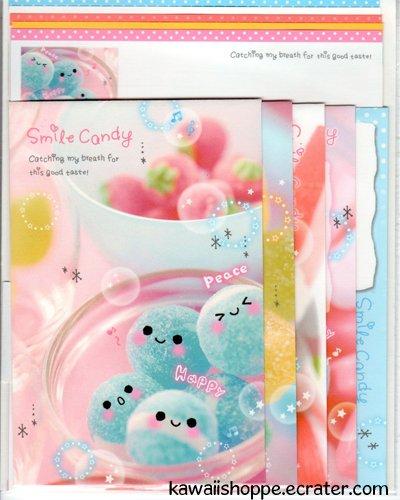 Kamio Japan Skyser Craper *Smile Candy* Letter Set Kawaii Candies Sweets Desserts Fruits