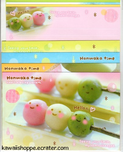 Kamio Japan *Honwaka Time, Precious Mail* Letter Set Kawaii Candies Sweets Tea