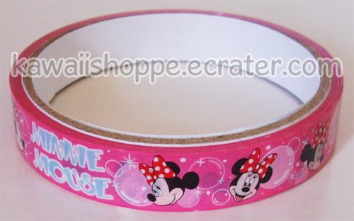 Disney Minnie Mouse Deco Tape #8 Pink w/ Bubbles
